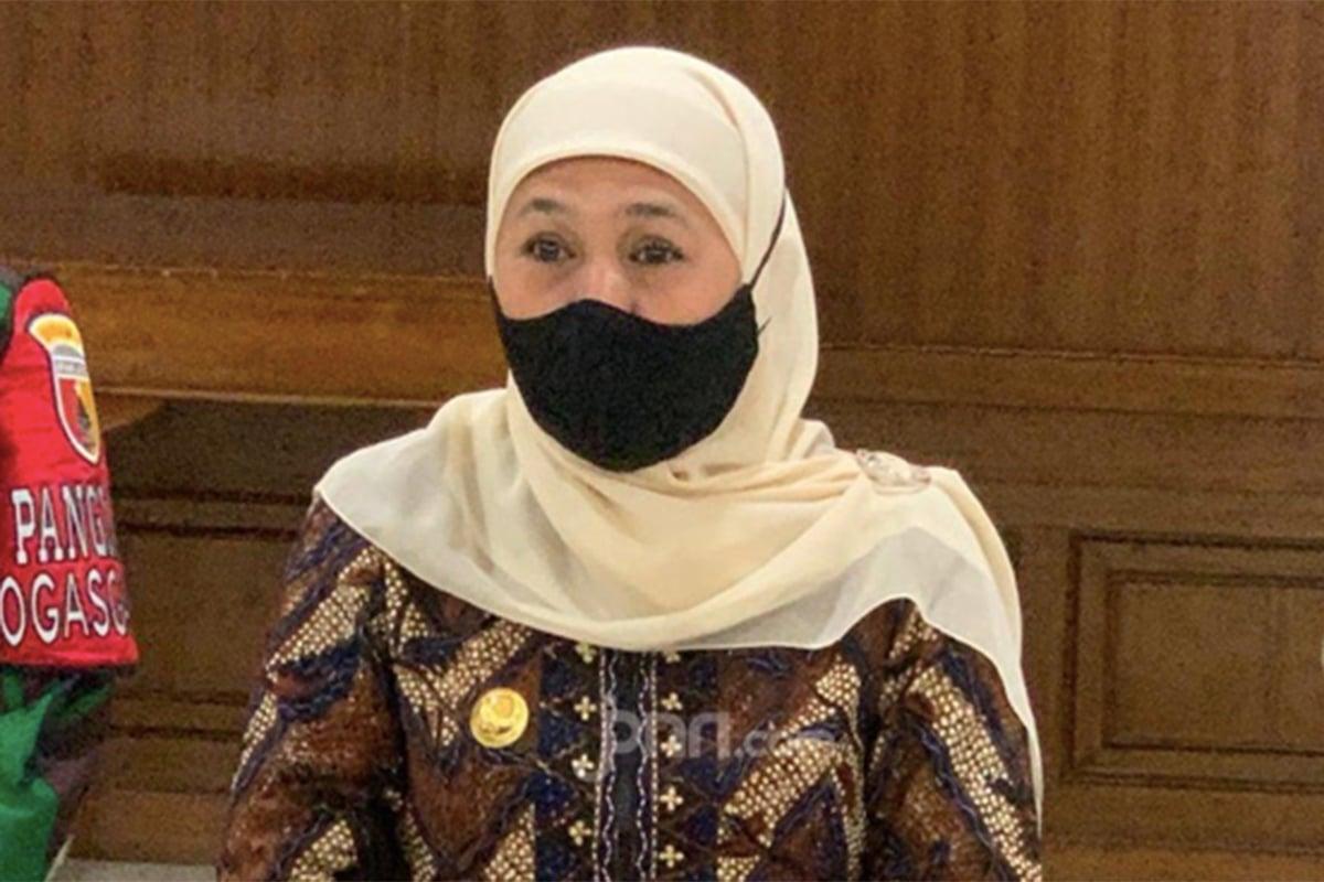 Gubernur Jawa Timur Khofifah Positif Covid-19