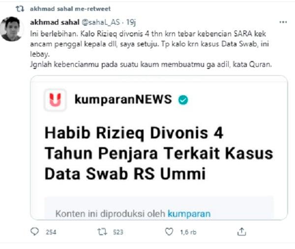 Ulama Pendukung Jokowi Kini Berbalik Bela HRS, Dahsyat!