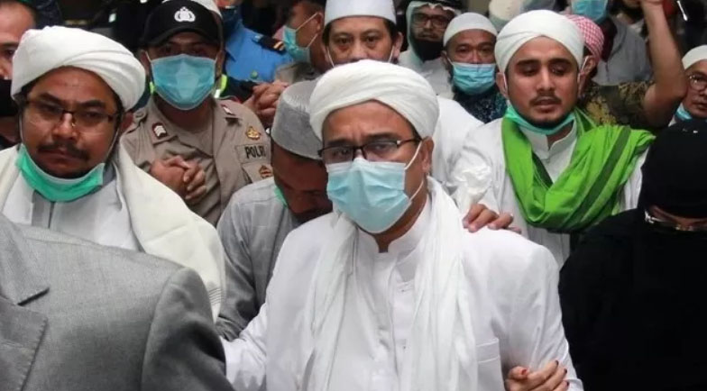 Eks pentolan FPI, Habib Rizieq Shihab. Foto: Antara Foto/Muhammad Iqbal