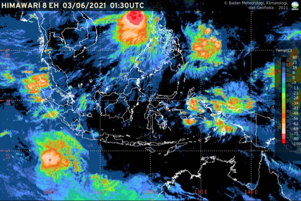 Hujan Lebat Berpotensi Dialami di Sumatera, Jawa dan Sulawesi
