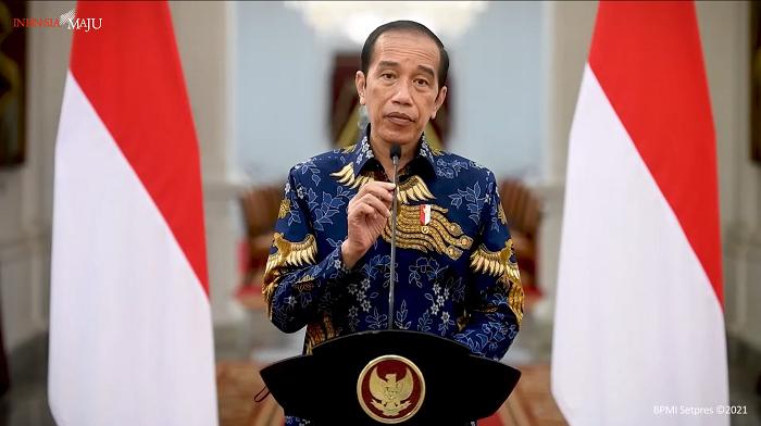 Keterangan Presiden Jokowi terkait PPKM Darurat di Istana Merdeka. Foto: tangkapan layar Youtube/Sekretariat Presiden