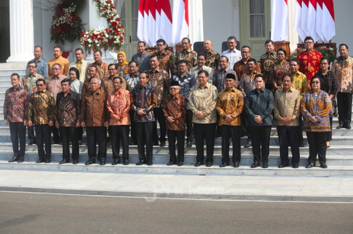 Jajaran Kabinet Jokowi (foto: JPNN)
