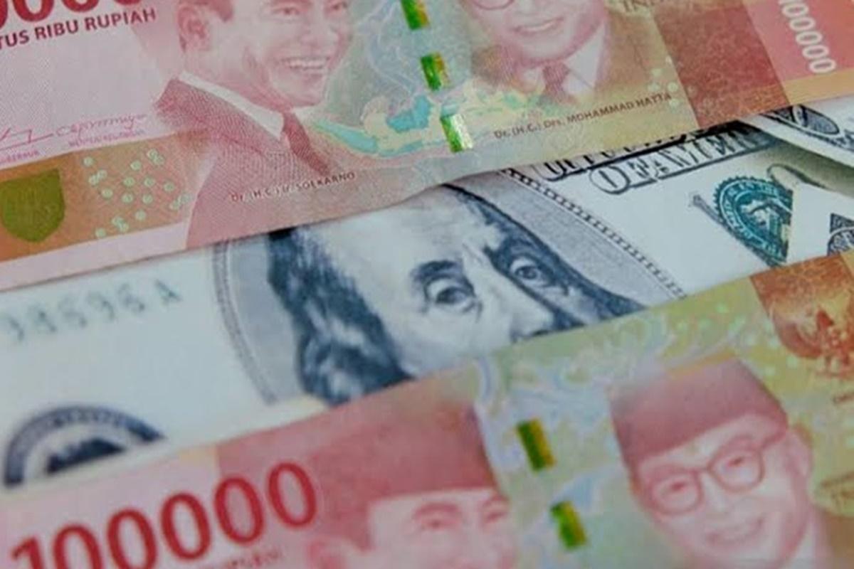 Rupiah dan dolar AS (foto: Antara)