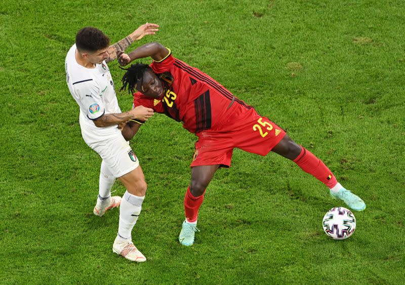 Pernah membuat Timnas Italia berantakan di Piala Eropa 2020, Jeremy Doku membuat Liverpool tergila-gila. (foto: Reuters)
