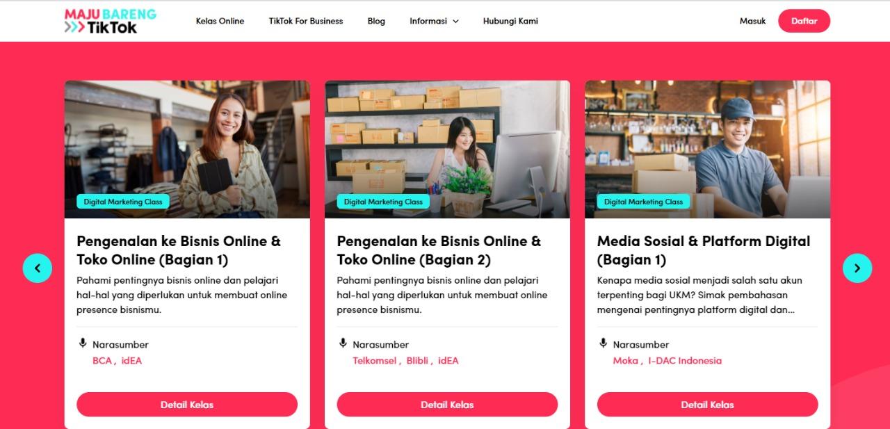 Dukung UKM Go Digital, TikTok Berikan Materi Bisnis Online