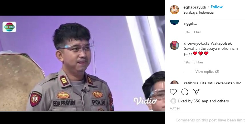 Anak Sulung Tukul Arwana, Wakapolsek Sawahan Surabaya yang Tampan