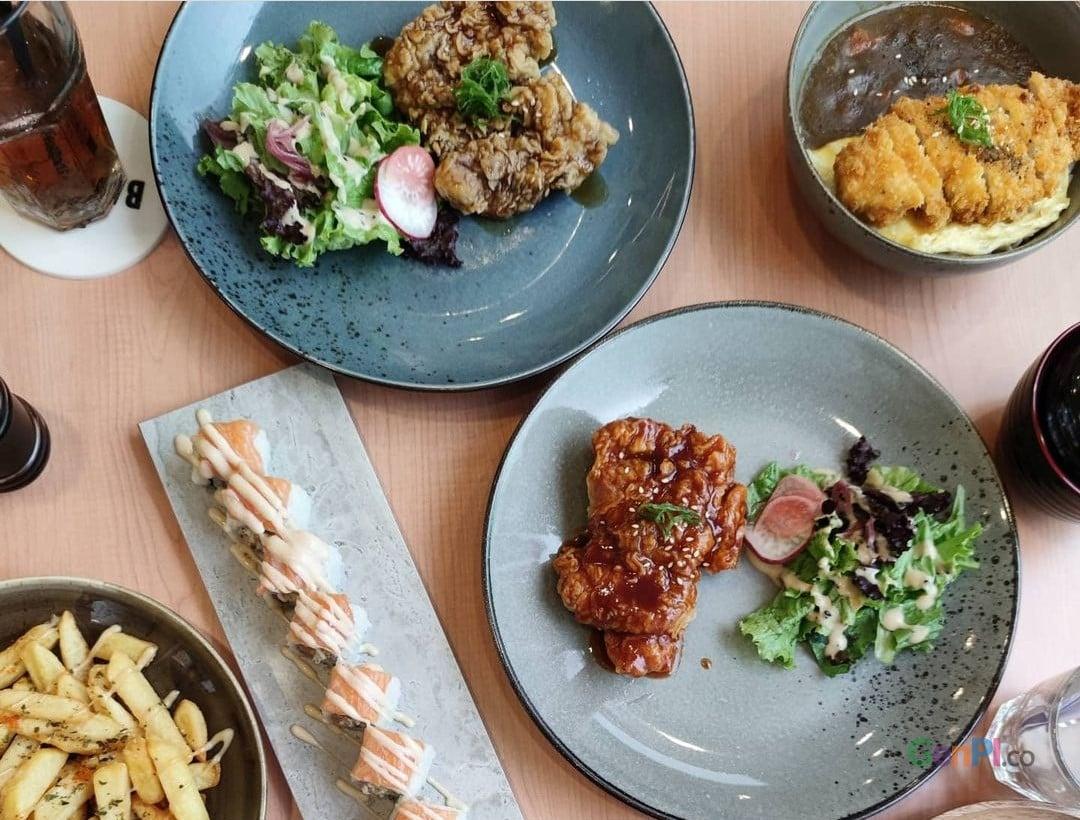 Beberapa menu di Restoran BawBaw Green Ville.