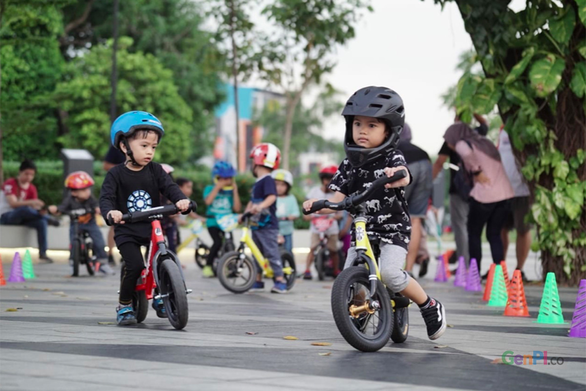 Komunitas Push Bike Jakarta. Foto: Asahi Asry/GenPI.co