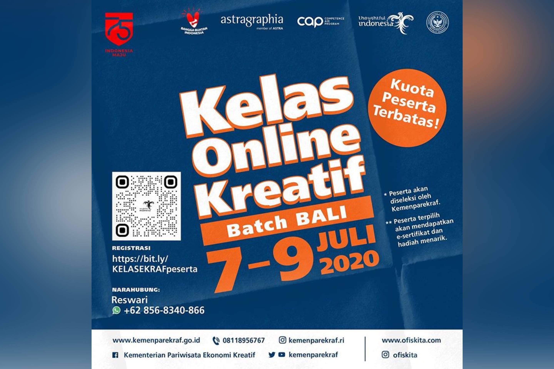 Kelas Online Kreatif Batch Bali