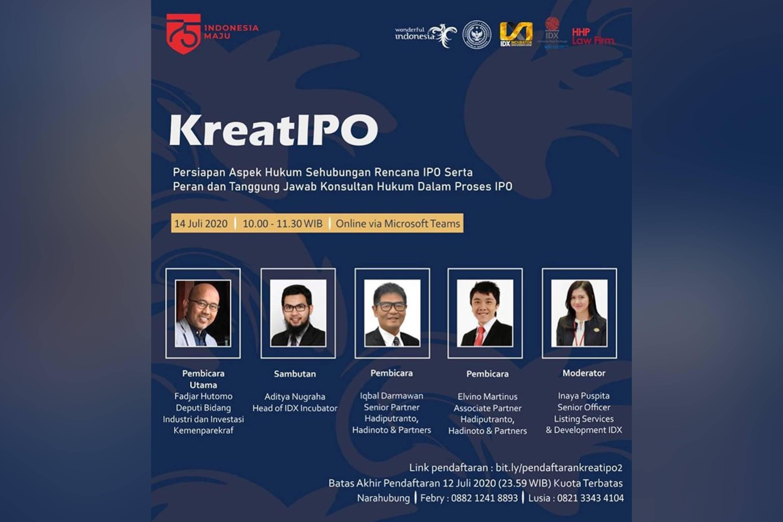 Persiapan Aspek Hukum sehubungan rencana IPO serta Peran dan Tanggung Jawab Konsultan Hukum dalam Proses IPO
