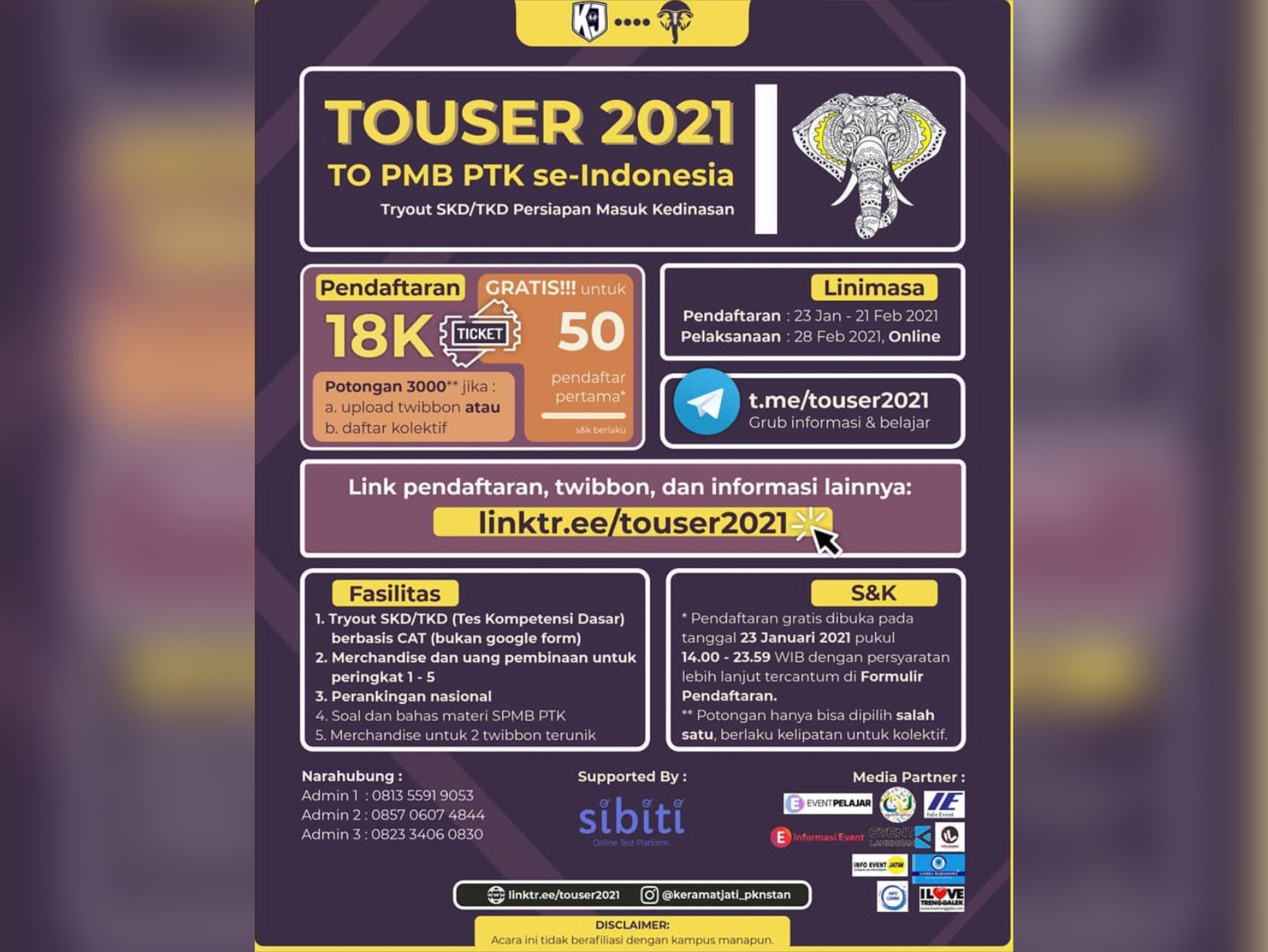 Try Out PMB PTK Se-Indonesia