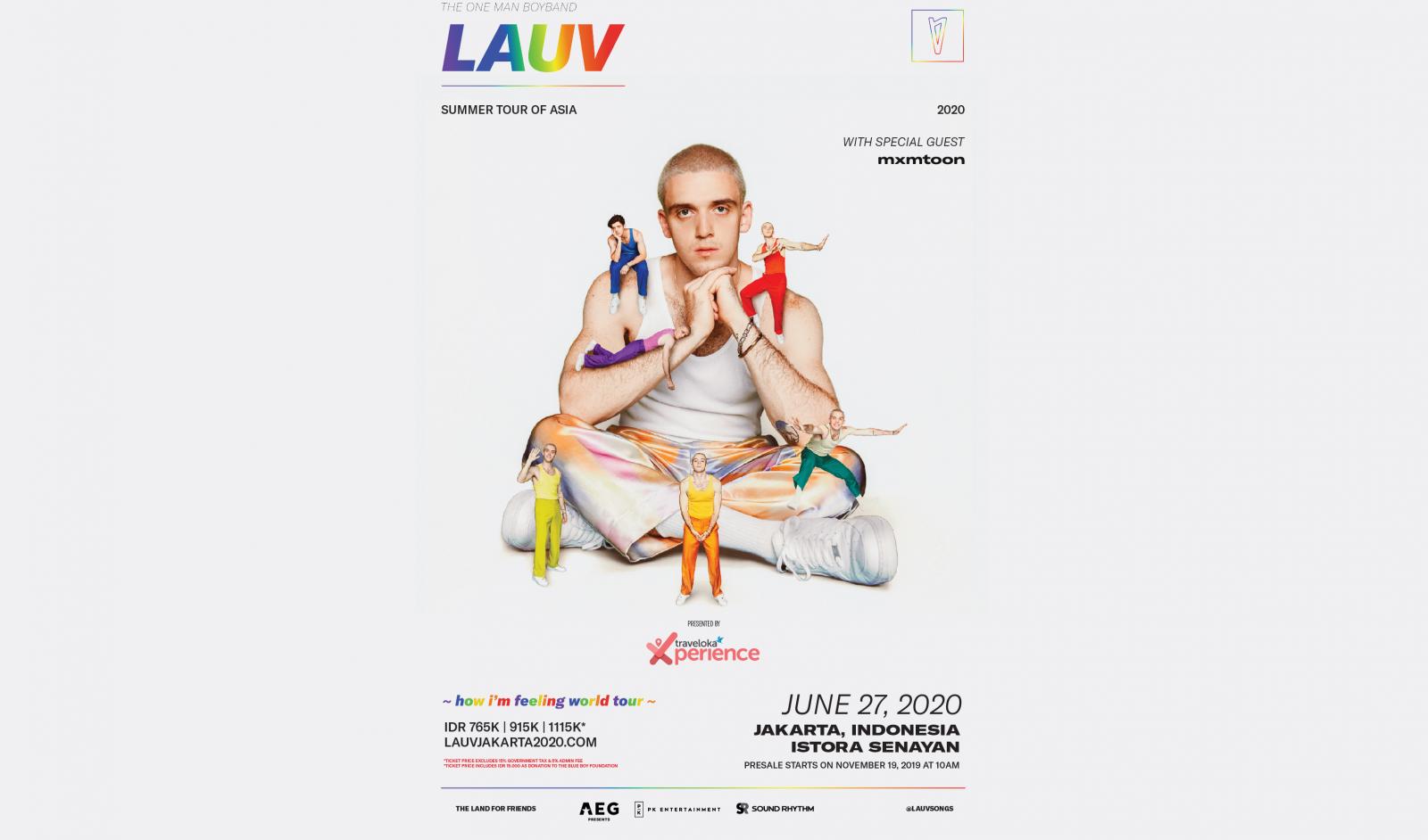 Lauv bakal gelar konser di Jakarta Juni 2020 (Foto: AEG Presents Asia)
