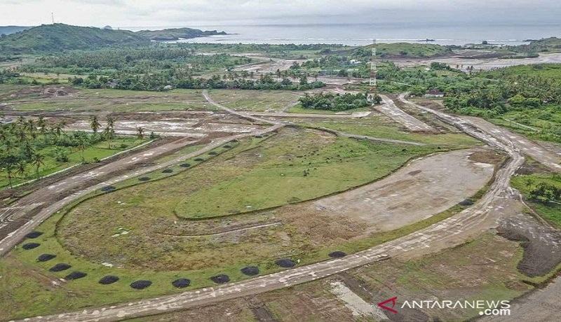 Lokasi pembangunan sirkuit jalan raya pertama di dunia untuk MotoGP di sirkuit Mandalika. Foto: Antara