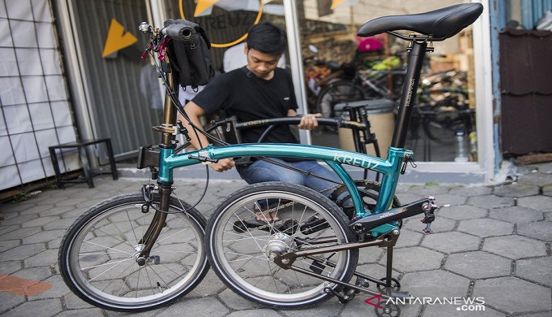 Sepeda lipat buatan Bandung, Jawa Barat. Foto: Antara