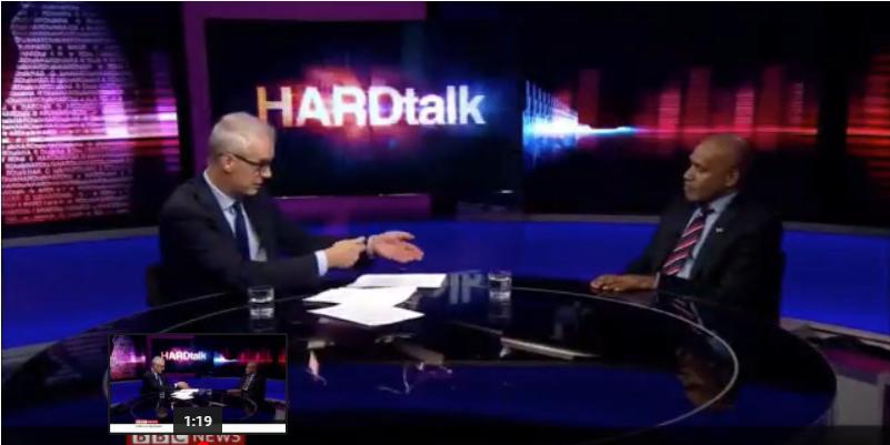 Benny wenda diwawancarai Setphen Sackur di program Hardtalk BBC. (Foto: Youtube)