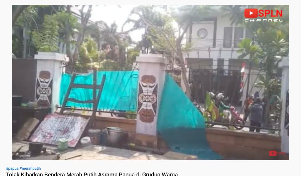 YouTuber Kebumen jadi tersangka penyebaran video hoaks soal penggerebekan asrama mahasiswa Papua di Surabaya (Foto : YouTube SPLN Channel)