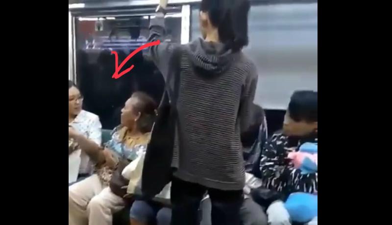 Dua wanita nyaris baku hantam di KRL karena salah kata sapaan (Foto : Instagram @igtaenmentt)