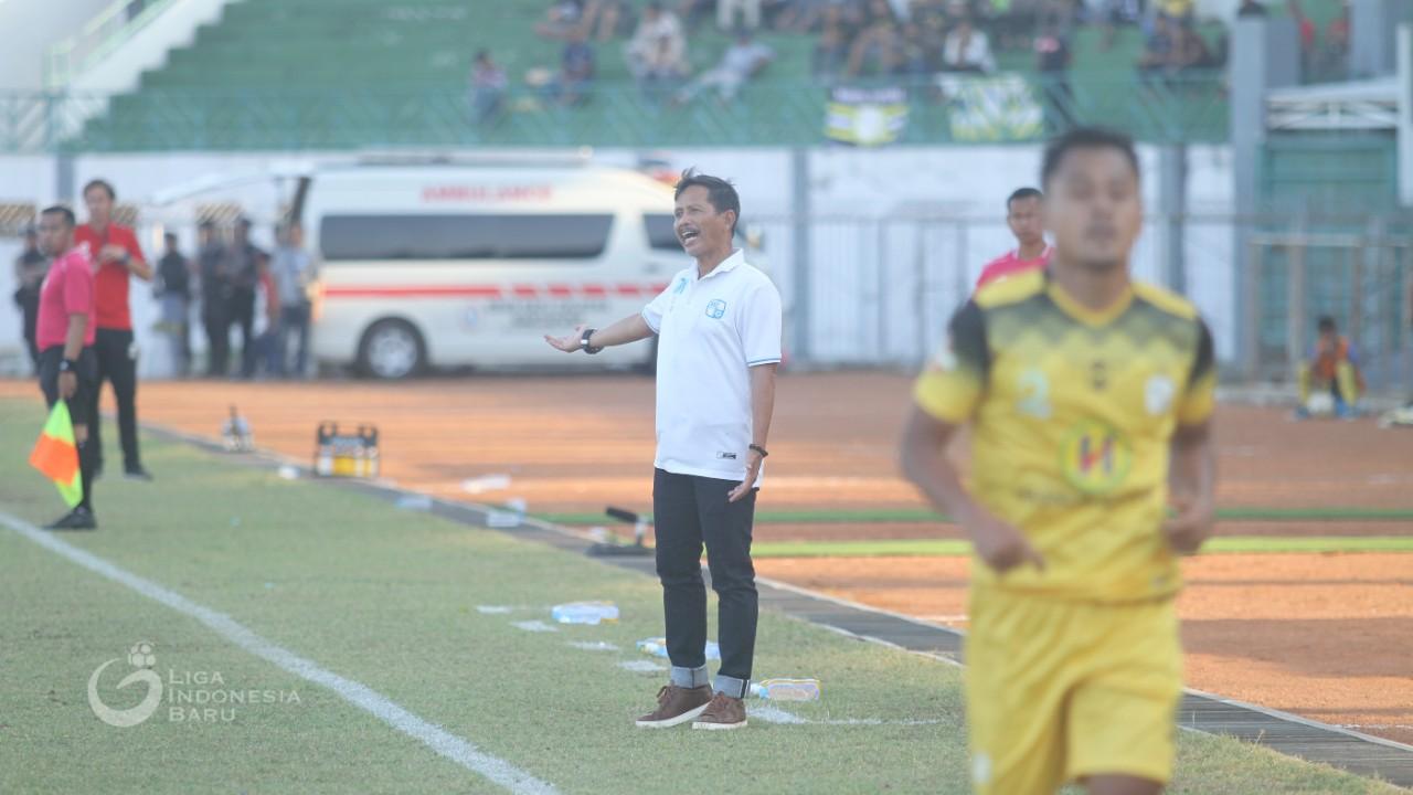 Pelatih Barito Putera Djadjang Nurdjaman berambisi meraih kemenangan dalam laga Persija Jakarta vs Barito Putera pada lanjutan Liga 1 2019. Foto: Liga Indonesia