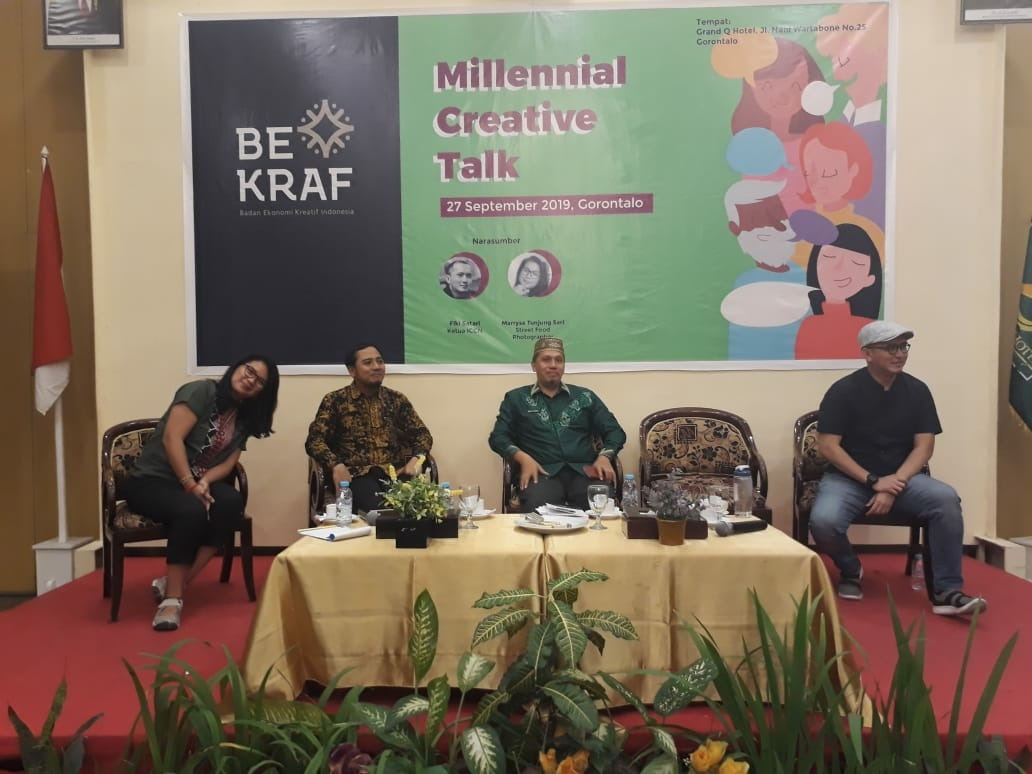 Bekraf gelar Millenial Creative Talk di Kota Gorontalo (Foto : Rosyid/GenPI.co)