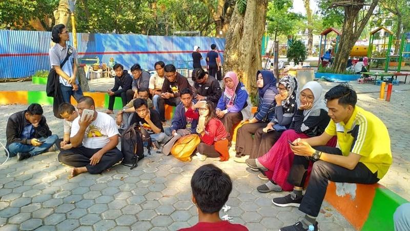 Para anggota Komunitas Nakama Palembang saat kopdar (foto: IG Nakama Palembang)