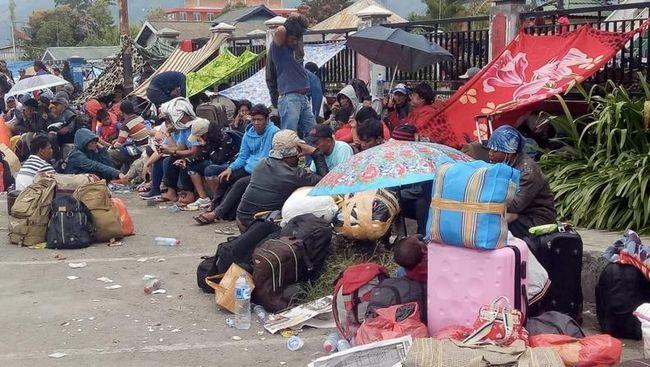 Pengungsi di Wamena. (Foto: Antara)