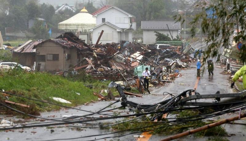 Badai Hagibis menghancurkan ribuan rumah di Jepang. (reuters)