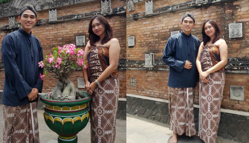 Ini dia pakaian Abdi Dalem yang khusus untuk memasuki permakaman Kotagede, Yogyakarta. Keren, ya (Foto : Annisa/GenPI.co)