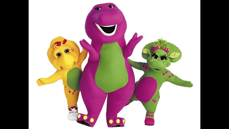 "Tokoh tayangan kartun ""Barney & Friends"" (foto: bs Hawaii)"
