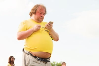 ilustrasi pria gemuk (Foto: Unsplash.com)