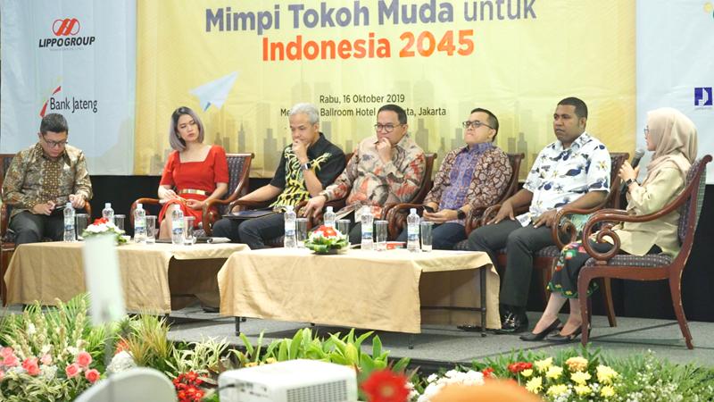 """Seminar """"100 Tahun Indonesia Mimpi Tokoh Muda untuk Indonesia 2045"""" yang diselenggarakan PWI menghadirkan sejumlah pejabat daerah (foto: Aan Zikri/GenPI.co)"""