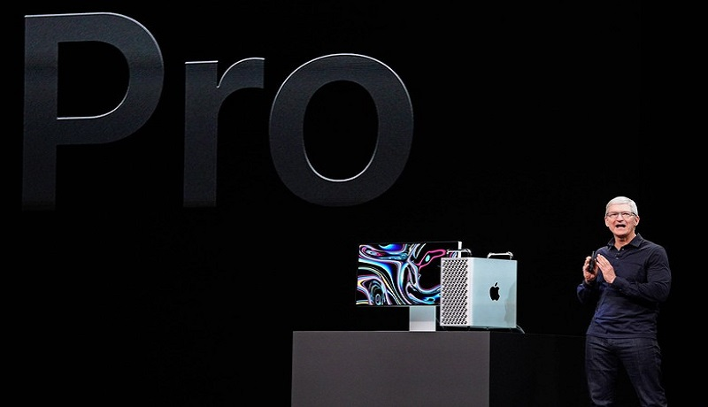 Ilustrasi Apple saat meluncurkan komputer Mac Pro. (sumber: LIvemint)