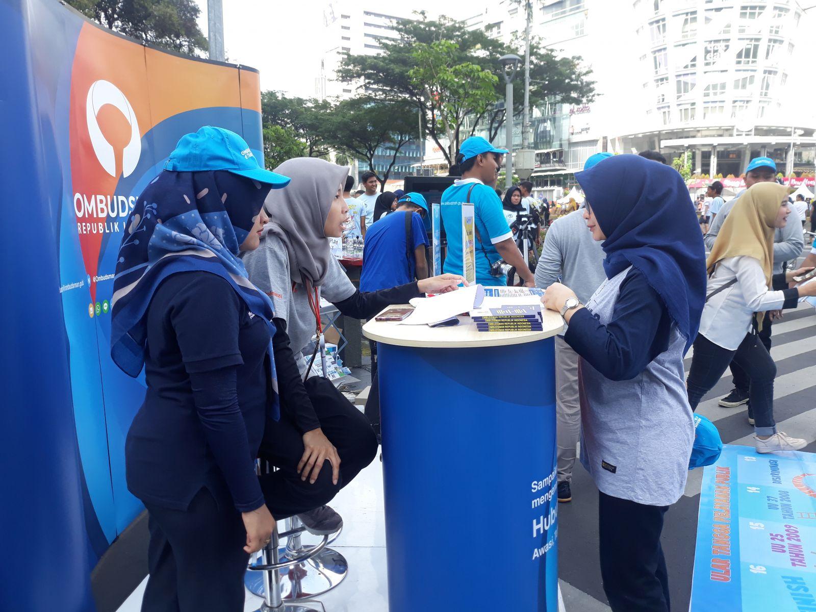 "acara ""Ombudsman di Titik Layanan"" di CFD Jakarta. (Foto: Ririn/GenPI.co)"
