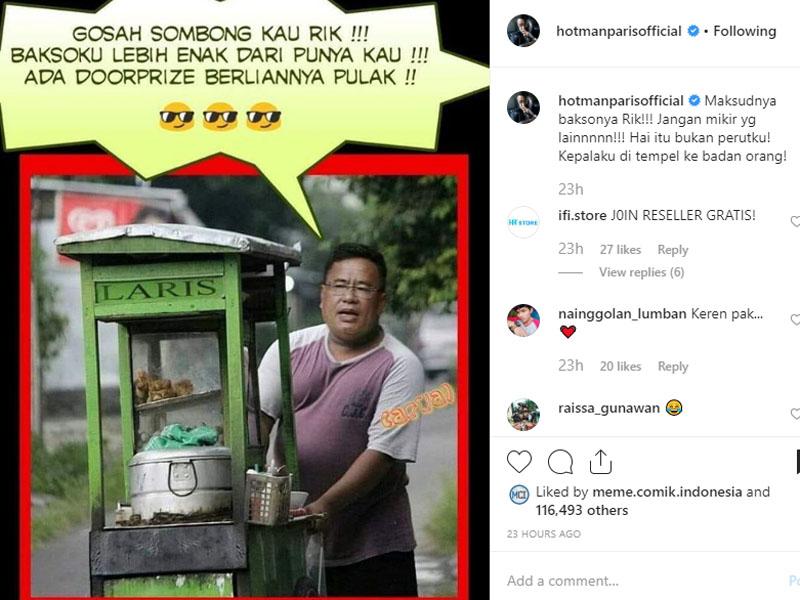 Erick Thohir Jual Bakso, Hotman Paris: Nggak Usah Sombong Kau