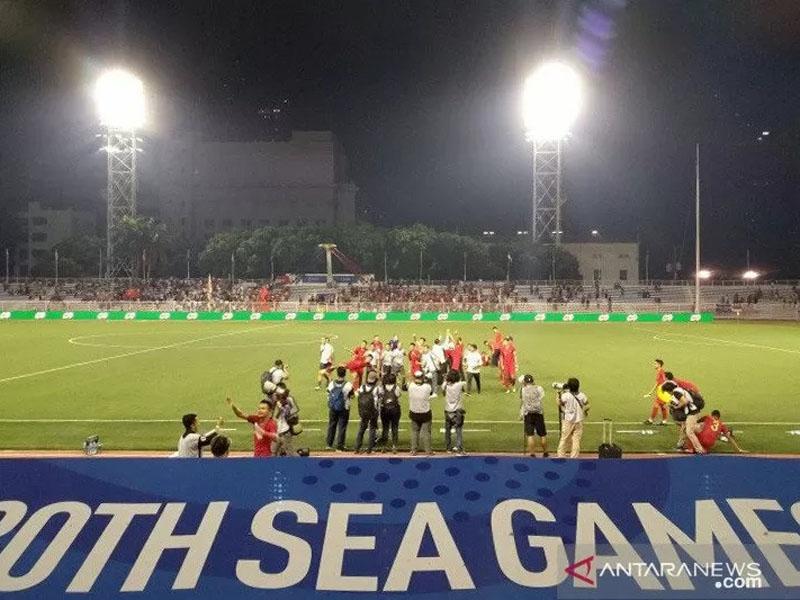 Timnas Indonesia berpeluang mematahkan tradisi buruk saat melawan Vietnam pada final SEA Games 2019. Foto: Antara