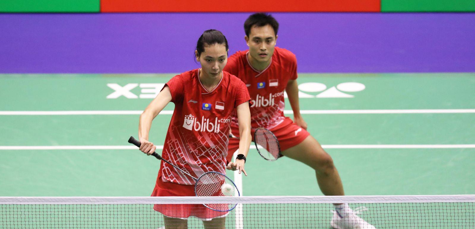 Ganda campuran Indonesia Hafiz Faizal/Gloria Emanuelle Widjaja harus memeras keringat lebih banyak pada babak pertama Hong Kong Open 2019. Foto: PBSI