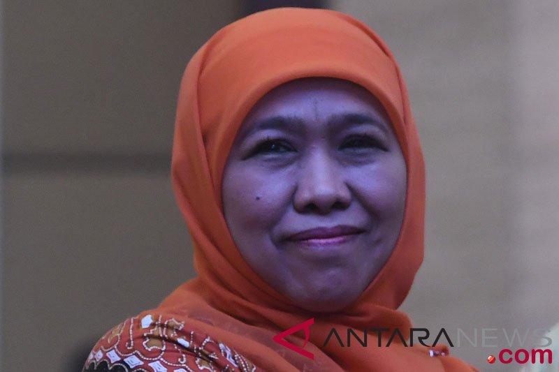 Gubernur Jawa Timur Khofifah Indar Parawansa. Upah Minimum Kabupaten/Kota Jawa Timur 2020 (UMK Jatim 2020) sudah ditetapkan. Foto: Antara
