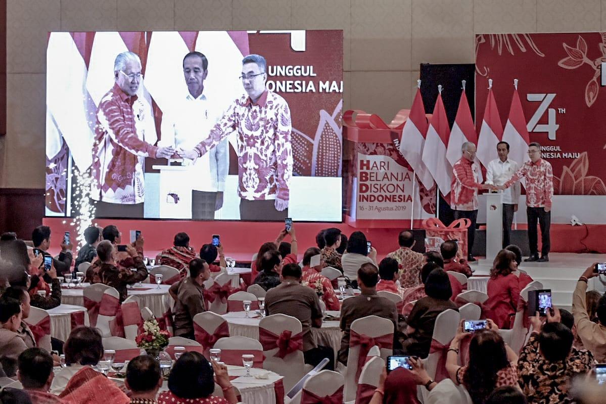 Peluncuran HBDI 2019 oleh Presiden Joko Widodo (Jokowi) di Senayan City, Jakarta, Kamis (15/8).