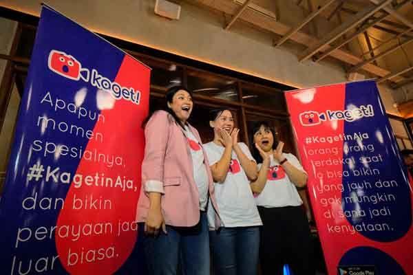Aplikasi Kaget! memungkinkan kamu dapat salam manis dari artis idola di momen spesial (Foto : Media Indonesia)