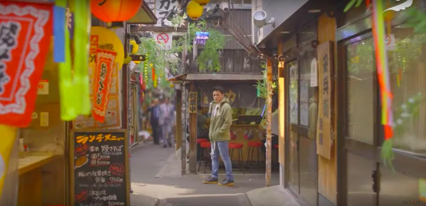 Potongan video klip lagu 'Wanitaku' milik NOAH yang melakukan syuting di Jepang dan sepanjang video klip tidak muncul gitaris Uki NOAH. (Sumber foto: YouTube)
