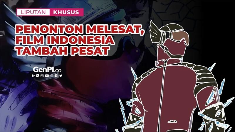 Film Indonesia makin saingi asing dalam jumlah dan perolehan penonton (grafis: Estu Waluyo Jati)