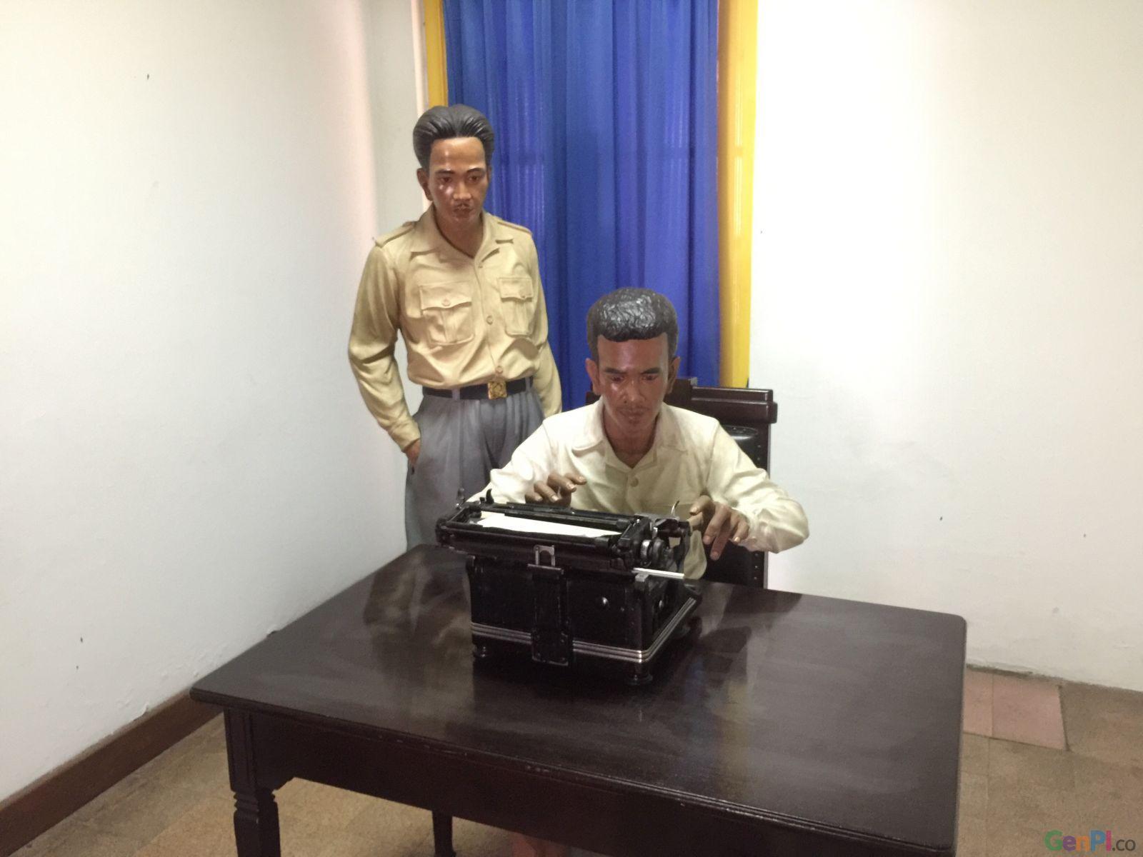 Diorama pengetikan naskah Proklamasi di Museum Perumusan Naskah Proklamasi, Jakarta. (Foto: Hafid/GenPI.co)