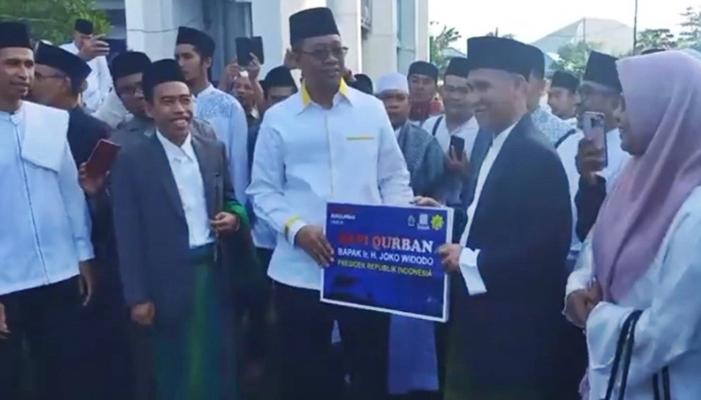 Bukan dari Australia atau luar negeri lain, Jokowi pilih kurban sapi Made in Lombok seberat 1,3 ton! (Foto : Muslifa/GenPI.co)