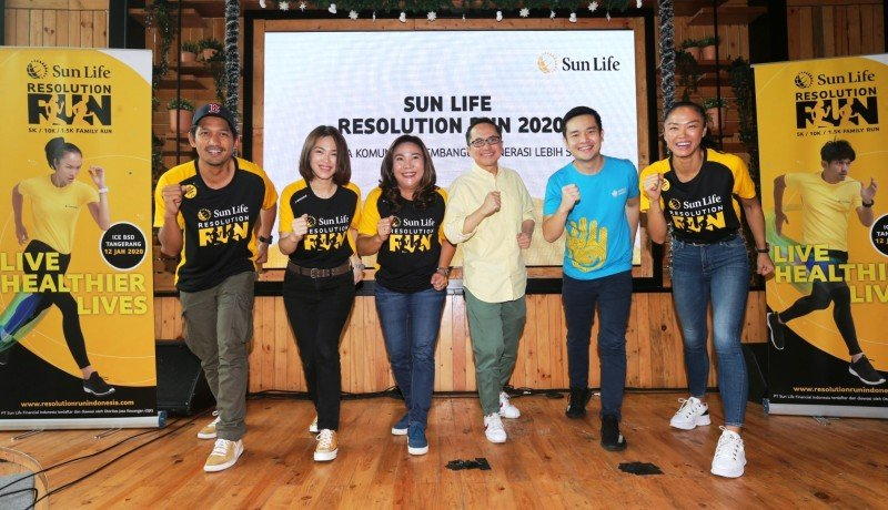 Press conference Sun Life Resolution Run 2020 ( sumber : GenPI.co)