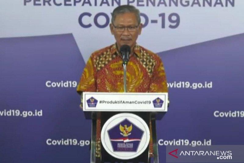 uru Bicara Pemerintah untuk Penanganan COVID-19 Achmad Yurianto dalam konferensi pers di Graha BNPB Jakarta, Minggu (14/6). (Foto: Antara/Katriana)