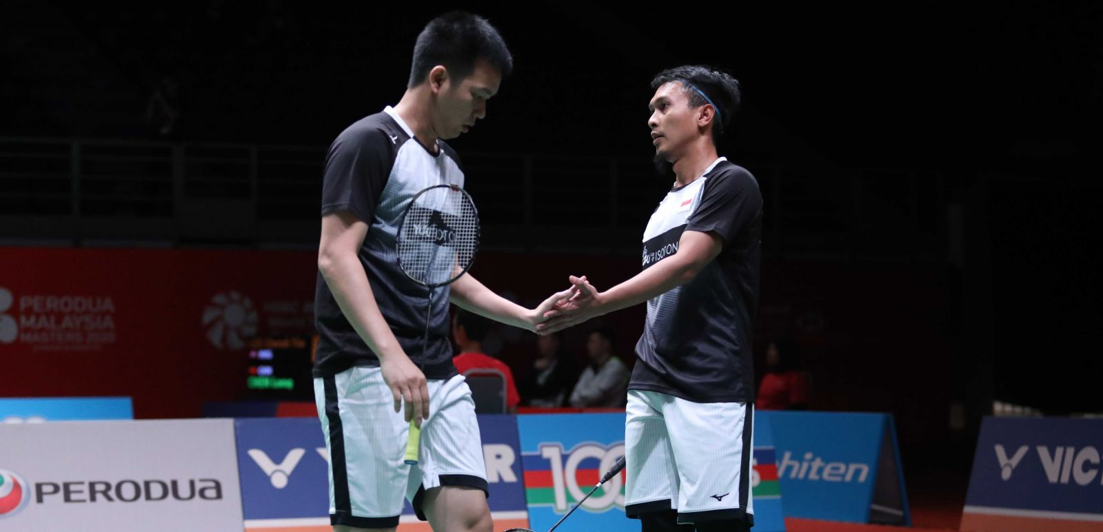 Ganda putra Mohammad Ahsan/Hendra Setiawan tidak menemui kesulitan berarti pada babak kedua Malaysia Masters 2020. Foto: PBSI