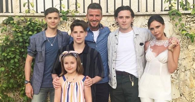 David dan Victoria Beckham berserta keempat anak mereka. (Foto: Instagram/@davidbeckham)