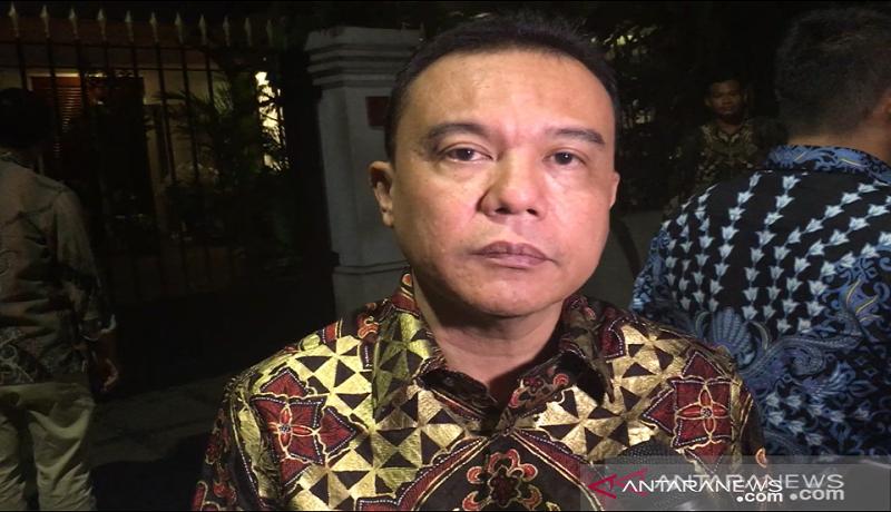 Wakil Ketua Umum Partai Gerindra Sufmi Dasco Ahmad saat mengumumkan Cawagub DKI. Foto: Antara