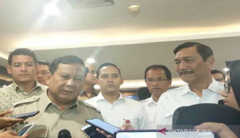 Prabowo Subianto dan Luhut Panjaitan. Foto: Antara