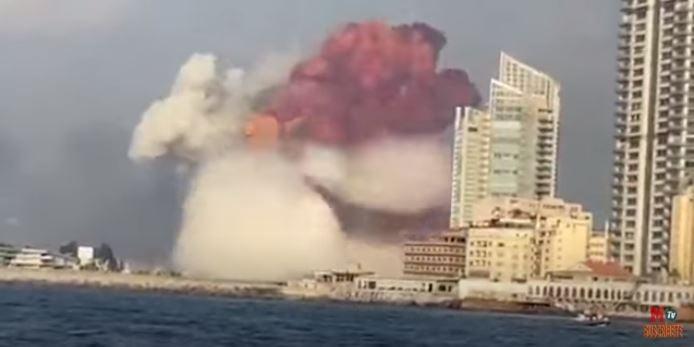 Ledakan di Lebanon, Bola Api Besar dan Gelombang Kejut Mengerikan