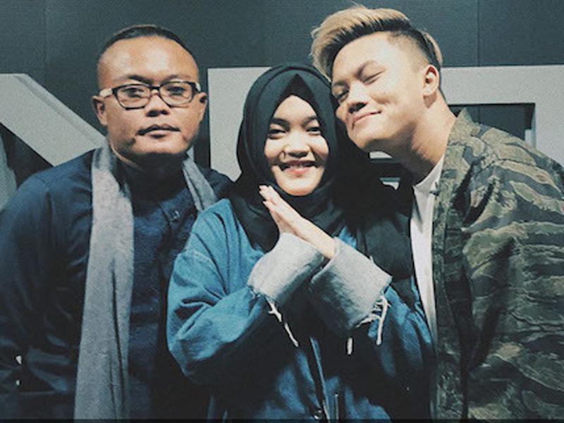 Sule, Putri Delina, dan Rizky Febian. Foto: Instagram/Rizky Febian